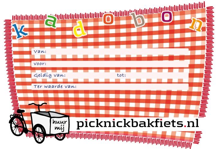 de picknick kadobon van picknickbakfiets - het leukste picknick kado